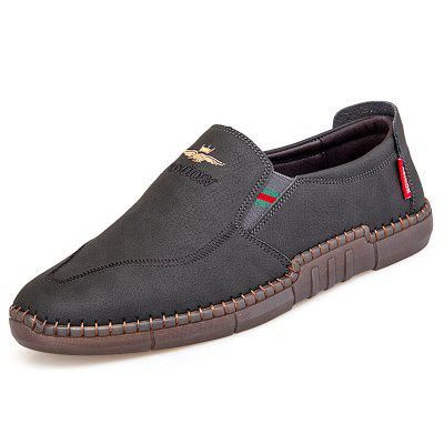 AILADUN Spring Mens Casual Flat Shoe British Style Handmade Shoes Male Leather Footwear