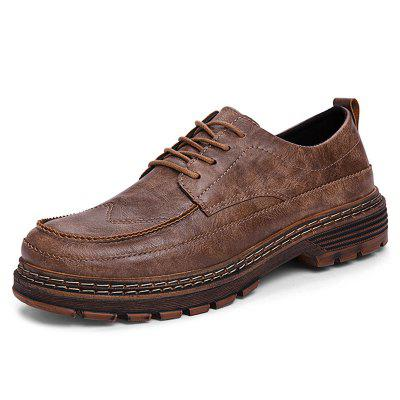 AILADUN Retro Male Casual Shoes Small Size Shoe Leather Flat Footwear