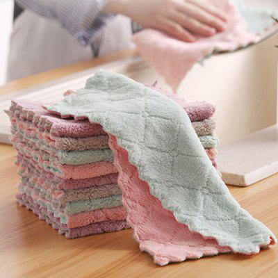 Household Dishwashing Cleaning Cloth Kitchen Towel Absorbent Bamboo Fiber Cloth Oil Wiping Tablecloth 10pcs