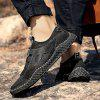 AILADUN Men Breathable Outdoor Casual Shoes Large Size Handmade Shoe Footwear with Round Toe - BLACK