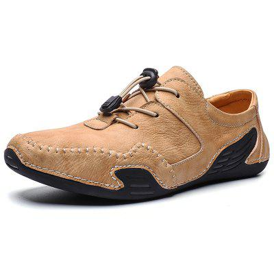 IZZUMI Mens Casual Shoes Handmade Large Size Shoe Leather Male Footwear