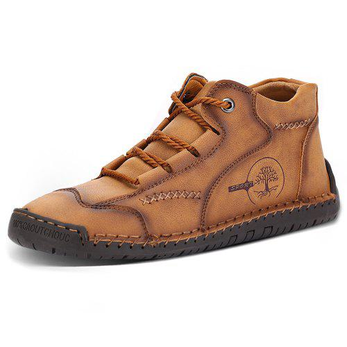 IZZUMI Men High-top Casual Shoes Large Size Handmade