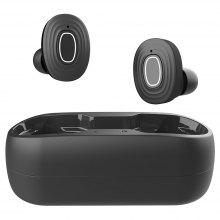 V6 TWS Bluetooth 5.0 Binaural Call Earphones True Wireless Earbuds Waterproof Hi-Fi Sound CVC6.0 Noise Reduction Sports Headset with Charging Box