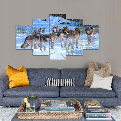 Wolves Creative Modern Home Decorative Painting without Framed Prints 5pcs