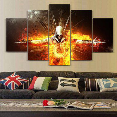 Soldier Modern Home Decorative Painting without Framed Prints 5pcs