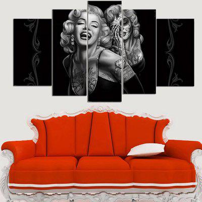 Precision Canvas Painting Printed Pictures Wall Living Room Home Decor without Frame 5pcs