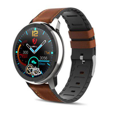 LEMFO ELF2 PPG + ECG Smart Watch Men Full Round Touch Screen 360 x 360 HD Resolution with Stainless Steel Case Replaceable Strap Image