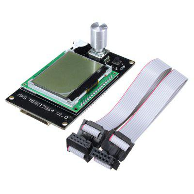 Mini 12864 LCD Display Controller Module Side Inserted SD Card For 3D Printer
