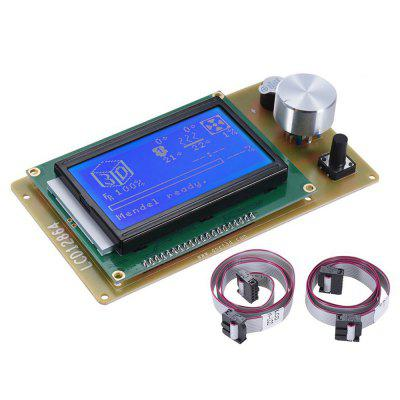 12864 LCD Intelligent Display with Cable Reprap 3D Printer Control Panel Kit for Anet A6 E10 E12 E16 A8PLUS
