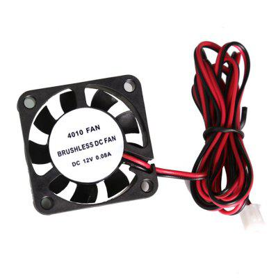 4010 Cooling Fan 40 x 40 x 10mm 12V 2 Cable for RepRap Prusa I3 DIY 3D Printer Cooling 2pcs
