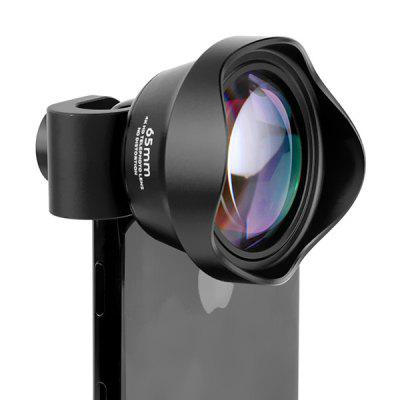 HD Distortion Free Mobile Phone Lens 65mm Telephoto Lens 4K Telephoto Lens with Optical Glass Lens Metal Aluminum Shell