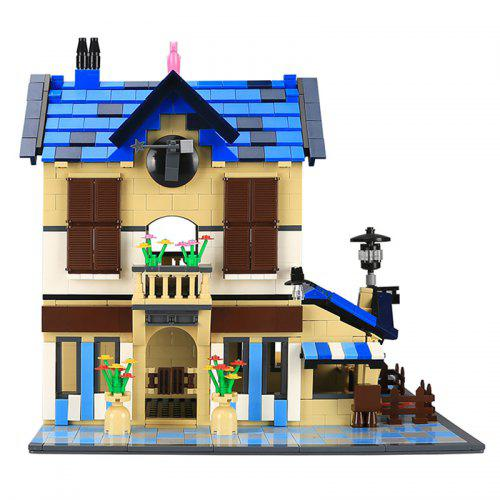 WANGE Famous Architectural Attractions Small Particle Building Blocks Assembled French Country House 1298pcs