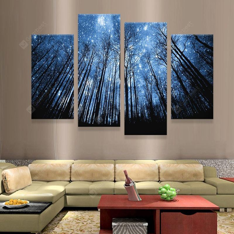 Forest Creative Modern Home Decorative Painting without Framed Prints 4pcs