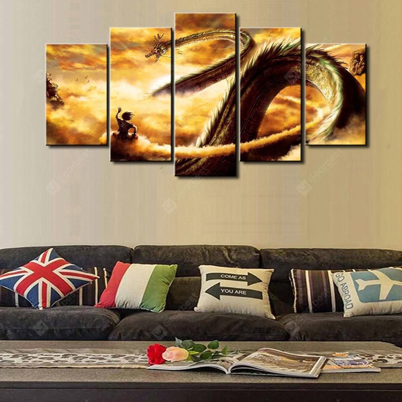 Dragon Totem Creative Modern Home Decorative Painting without Framed Prints 5pcs