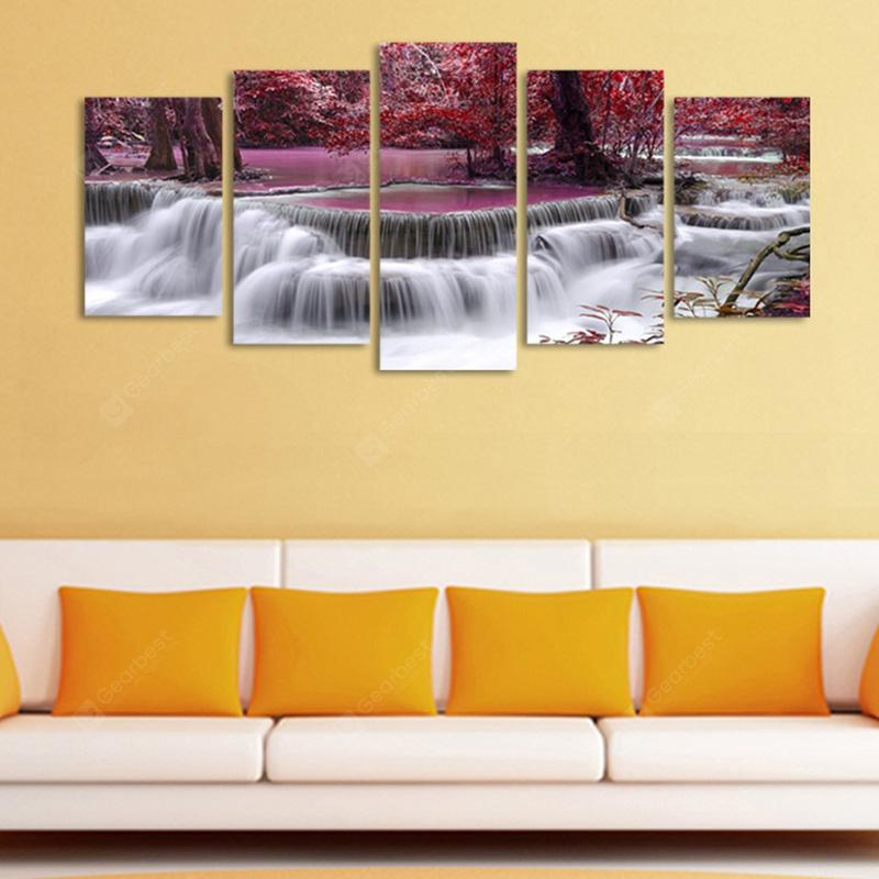 Maple Leaf Modern Home Decorative Painting without Framed Prints 5pcs