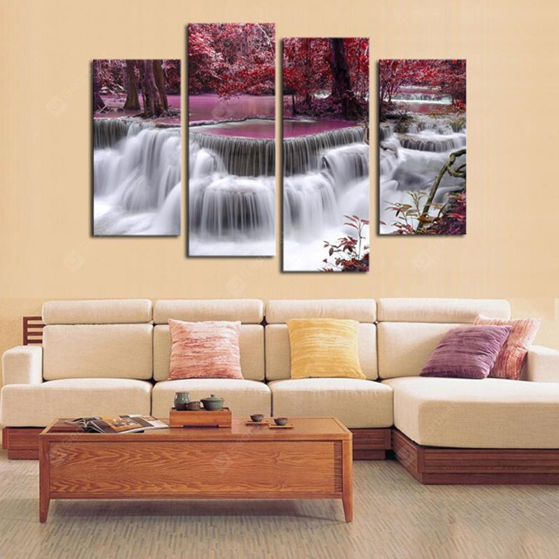 Scenery Modern Home Decorative Painting without Framed Prints 4pcs
