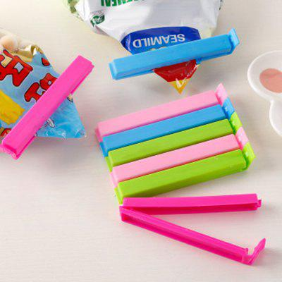 Candy Colored Plastic Bag Sealing Clip Food Snack Fresh Tea Seal Clip 10pcs