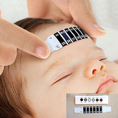 Baby Body Temperature Strips Infant Temperature Sticker Tape Liquid Crystal Changed Color Forehead Thermometer for Kids Adult