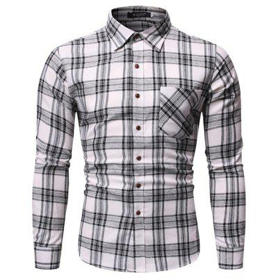 Herren Atmungsaktives Langärmeliges Plaid Hemd CS09