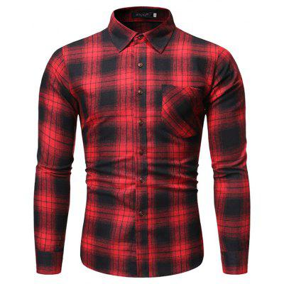 Mannen sport Lange mouwen Plaid Shirt CS07