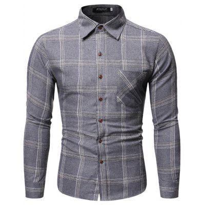 Mannen sport Lange mouwen Plaid Shirt CS10