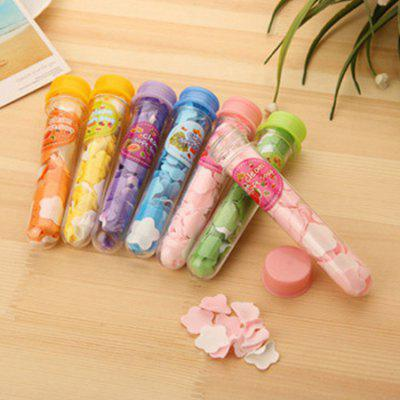 24PCS Outdoor Portable Hand-washing Soap Flakes Disposable Travel Bottled Flower Shape Soap