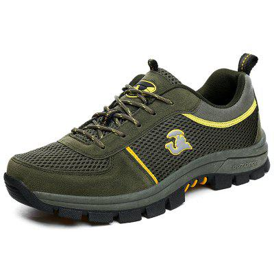 Male Fashion Outdoor Climbing Shoes Breathable Mesh Upper