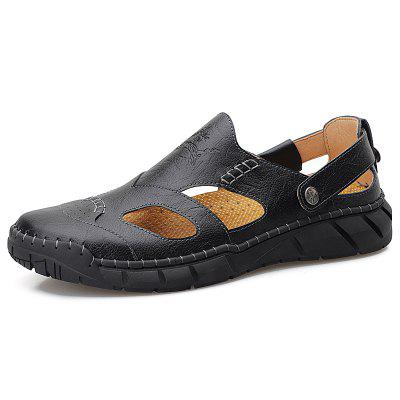 IZZUMI Men's Casual Sandals Men Handmade Summer Shoes Plus Size