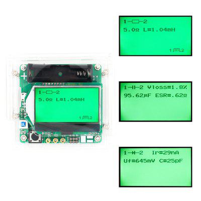 3.7V Inductor Capacitor ESR Meter DIY MG328 Multifunction Transistor Tester with Acrylic Shell