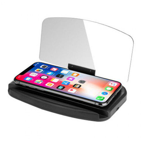 Phone Car Holder HUD Head-up Display Navigation Display Device Wireless Charger Stand Mirror Navigation