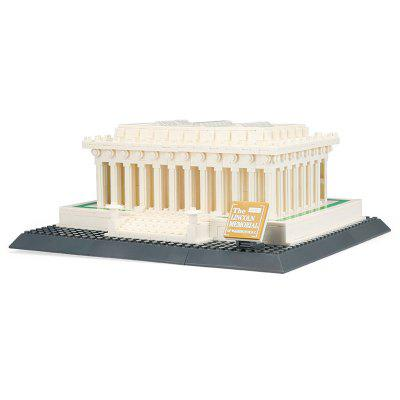 WANGE 4216 Puzzle Assembled DIY Mini Toy Building Blocks Small Particles of The World's Landmark Lincoln Memorial - USA 979pcs