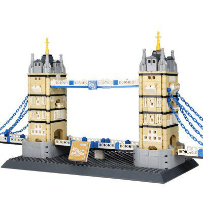 Wange 4219 Puzzle złożeniu DIY Building Blocks Toy małych cząstek Mini Świat Landmark Tower Bridge z 969pcs Lodon