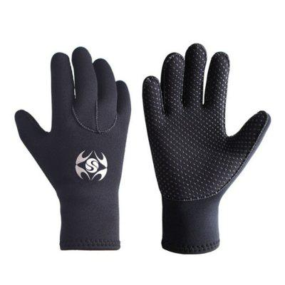 3mm Swimming Diving Gloves Slip Resistant Gloves Warm Cold Fishing Snorkeling Wetsuit Gloves