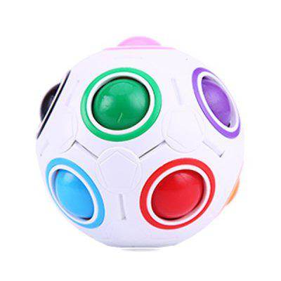 Rainbow Puzzles Creative Maze Toy Fidget Ball Funny Hand Game Anti Stress Brain Teaser Educational Toys