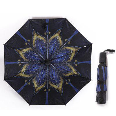 Dual Use Vinyl Anti UV Umbrella Sun or Rain Sunshade 3 Folded  8 Bones Parasol Umbrellas