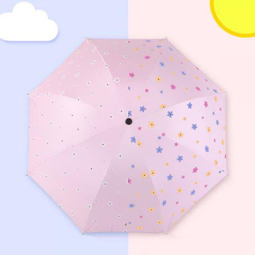 Christmas Automatic Tri-Fold Umbrella Parasol Sun Umbrella Sunshade