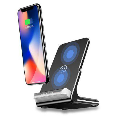 USAMS US-CD28 10W Wireless Fast Charging Pad QC 2.0 3.0 Zino Series Charger Phone Holder Stand