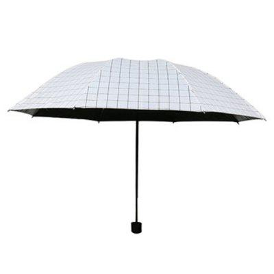 Black and White Striped Paragraph Vinyl Umbrellas Mini Couples Plaid Umbrella Princess Sunscreen Umbrella