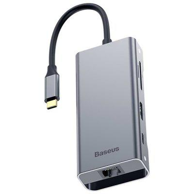 Baseus USB-C HUB Spliter Type-C naar USB 3.0 HDMI VG RJ45 Converter Multi USB 3.0 Power Adapter voor MacBook Pro Air