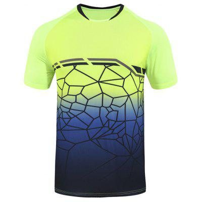 Men Running Short Sleeve T-shirt Badminton Clothing Tennis Clothes Male Quick-drying Summer Sportswear