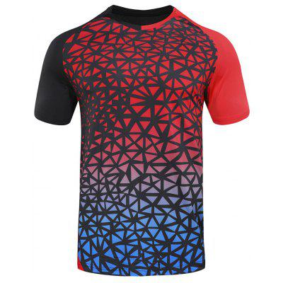 Summer Men Badminton T-shirt Clothing Male Short-sleeved Running Sportswear Comfortable Sports Training Suit