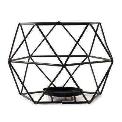 Iron Candlestick Creative Geometric Ornaments Aromatherapy Candles Frame Model Home Bedroom Living Room Decoration