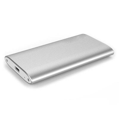 Aluminum Alloy SSD Hard Disk Drive Box Notebook M-SATA HDD External Storage Enclosure USB3.1