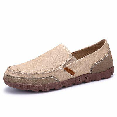 IZZUMI Plus Size Men's Breathable Canvas Shoes TPR Outsole Casual Loafers for Men Driver