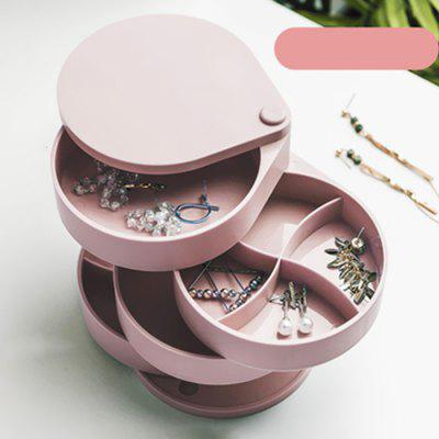 Protable Earrings Jewelry Storage Box Large Capacity Multi-layer Display Stand Rotating Necklace Organizer Case Holder