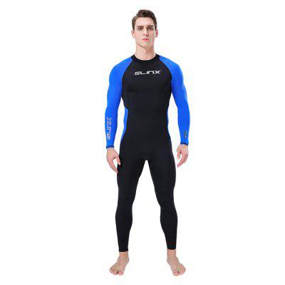 SLINX Men Thin Wetsuit Quick Drying Diving Suit Swimwear Waterproof Sunproof Surf Clothing