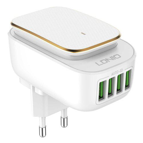 LDNIO LED Charging Night Light 4 USB Charger Travel Use
