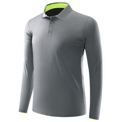 SY2191 Mens Long Sleeve Polo T-shirts Plain Quick-drying T Shirt for Men