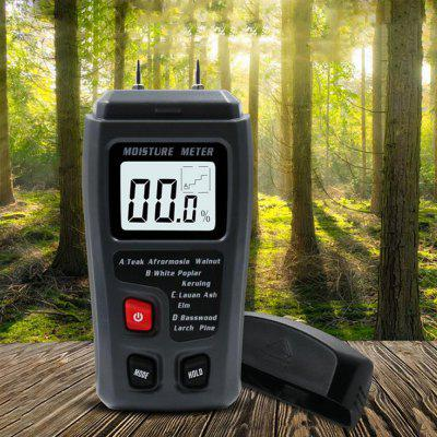 Wood Moisture Tester 0 - 99.9 Percent Precision Humidity Analyzer Hygrometer Timber Damp Detector with LED Screen