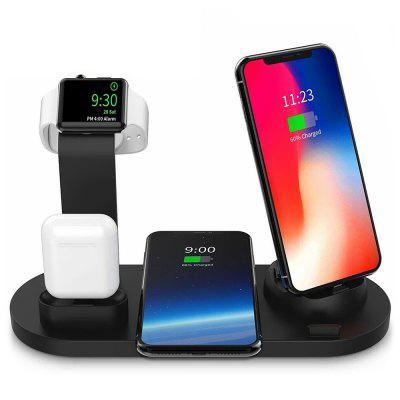 4-en-1 Base de Charge Multifonctionnelle Type C Micro USB 8 Broches pour iPhone iWatch Airpod